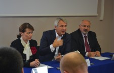 Aurelia Cristea,   Ministrul Delegat pentru Dialog Social,   Eugen Teodorovici,   Ministrul Fondurilor Europene,    Gheorghe Vușcan,   Prefectul jud. Cluj