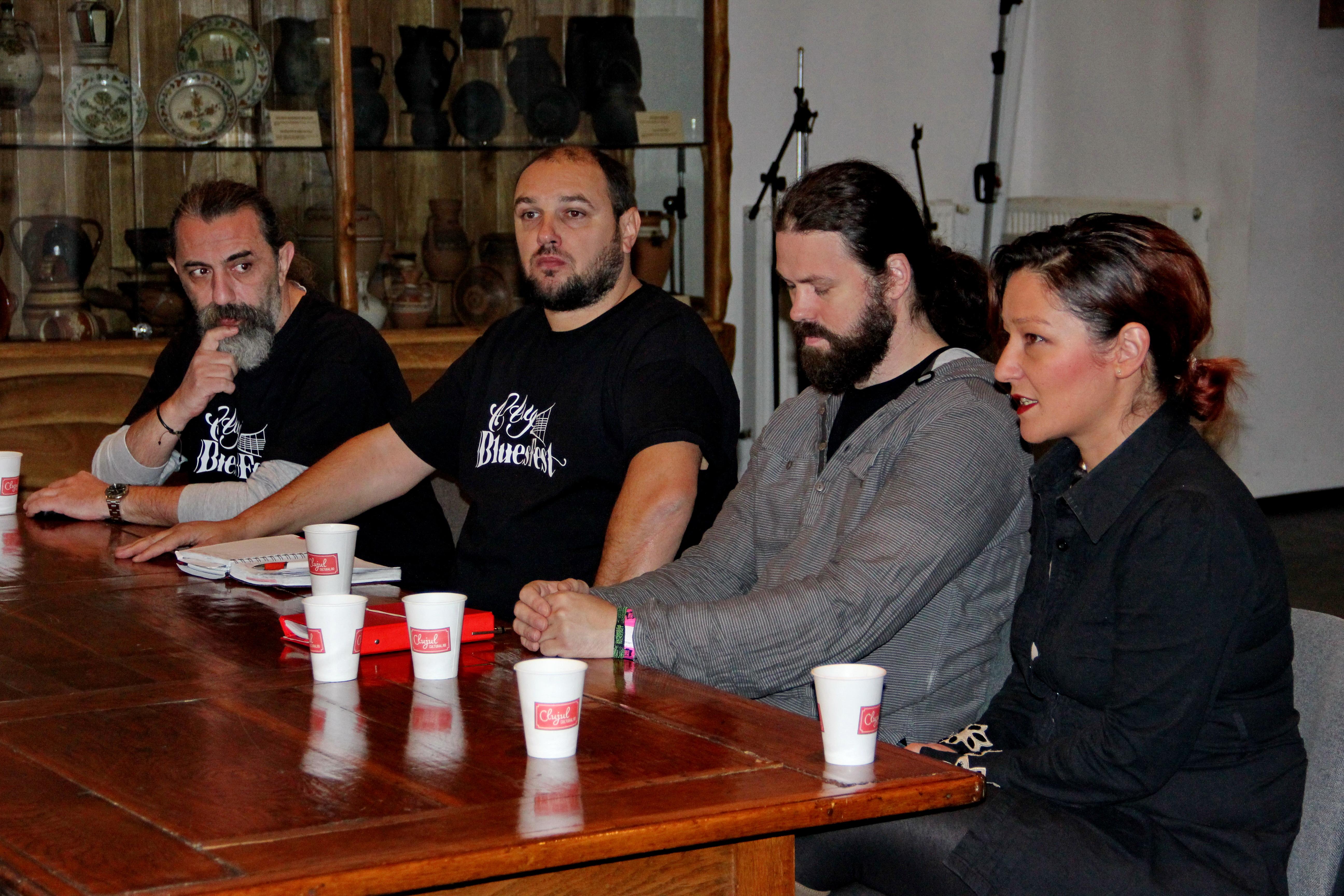 Andrei Balogh,   organizator,   Tiberiu Farcas,   organizator,    Unul din componentiiformatiei clujene de blues,   Straight from the Bottle,   Aminda,   artist / Foto: Dan Bodea