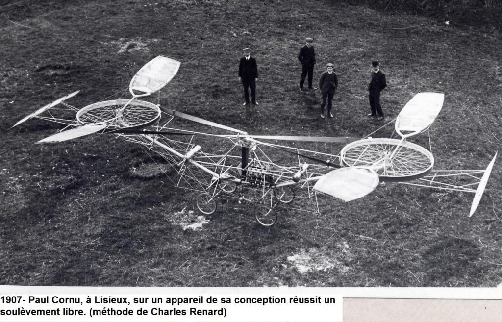 Elicopterul construit de Paul Cornu avea un motor Antoinette de 24 de cai putere şi cântărea 203 kilograme.