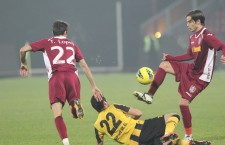 Fotbaliştii de la CFR au demonstrat conducerii că sunt profesionişti şi au câştigat meciul de la Botoşani, acum aşteaptă să le fie plătite măcar o parte din restanţele financiare  / Foto: Dan Bodea