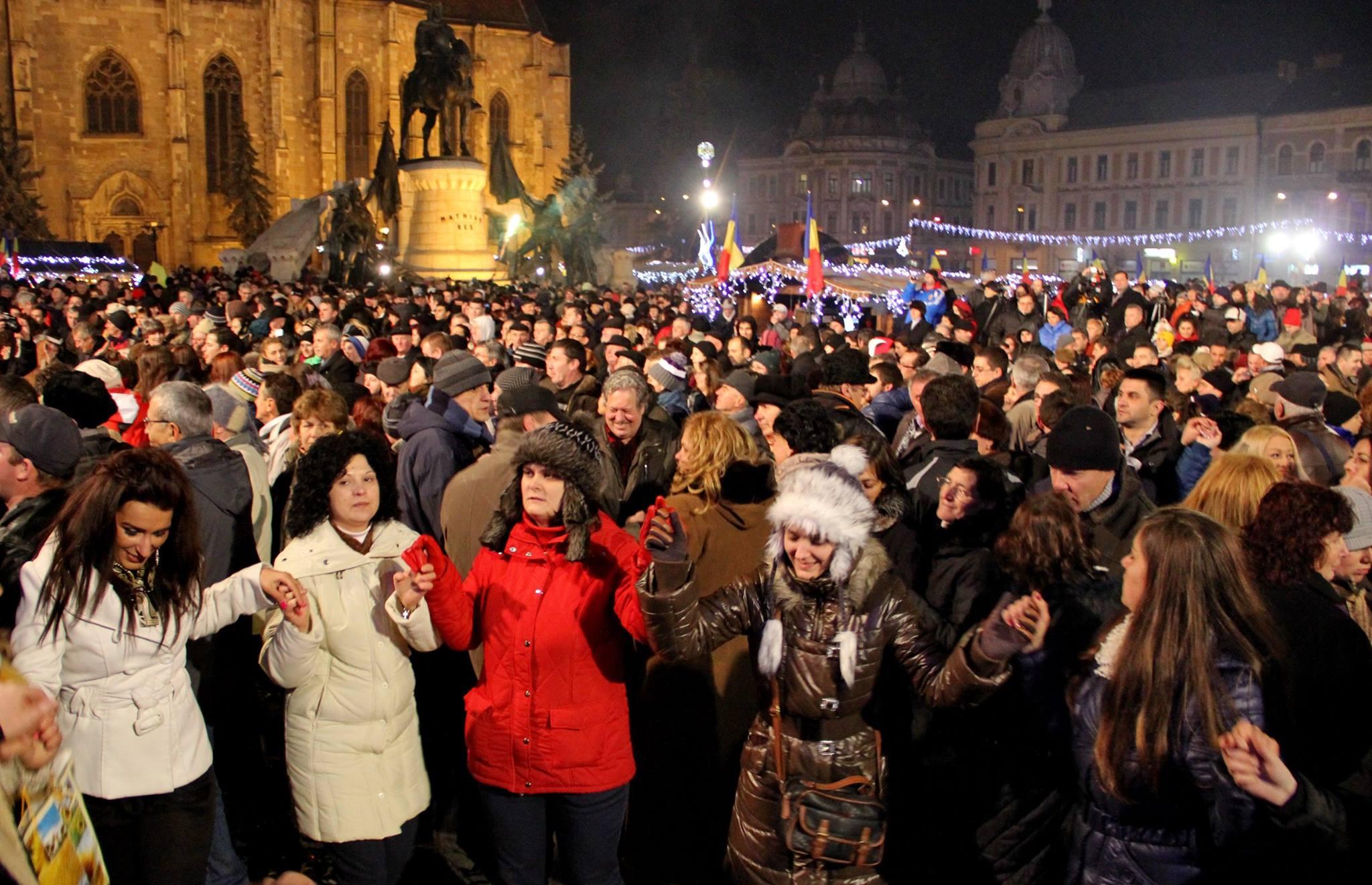 revelion piata unirii