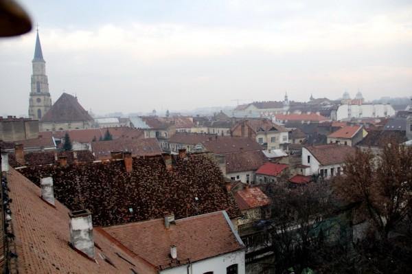 Vedere din turnul cu ceas al Muzeului Etnografic/Foto: Dan Bodea