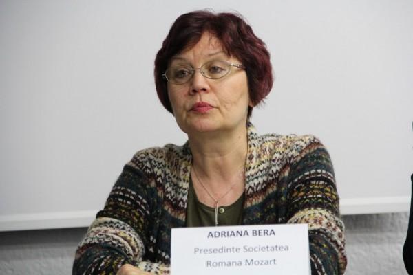 Adriana Bera,   preşedinte al Societăţii Române Mozart/Foto: Dan Bodea