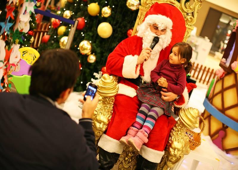 Moș Crăciun la Polus Center / Foto: Dan Bodea