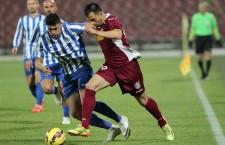 Mirko Ivanovski a marcat golul calificării CFR-ului în semifinalele Cupei României în minutul 90 al partidei de la Piteşti / Foto: Dan Bodea