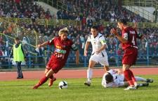 """La data de 14 octombrie 2008,   """"U"""" Cluj şi CFR s-au întâlnit ultima oară în Cupa României,   într-unul dintre cele mai spectaculoase meciuri din istorie,   încheiat cu victoria vişiniilor,   scor 14-13,   după lovituri de departajare / Foto: Dan Bodea"""