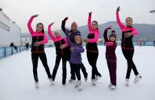 Singura echipă de patinaj artistic din Cluj-Napoca,   antrenată de Grety Marton / Foto: Dan Bodea