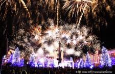 FOTO/ Foc de artificii spectaculos de Mica Unire