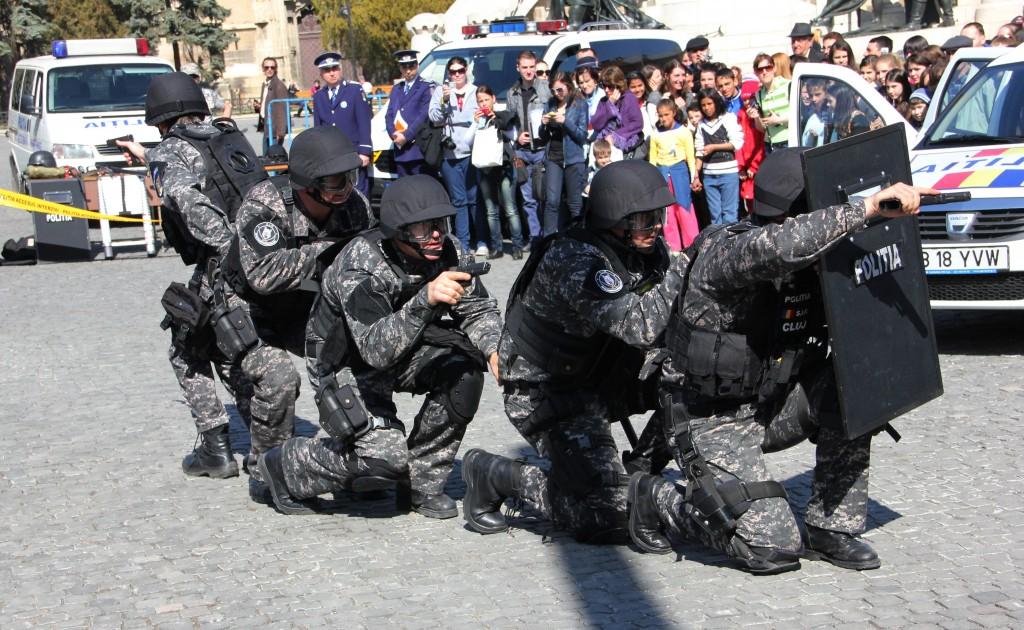 Demonstrație antitero,   Cluj / Foto: Dan Bodea