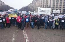 Miting de protest pentru conversia în lei a creditelor în valută