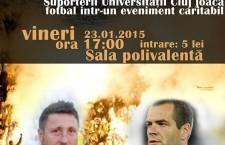 """Solidaritate prin sport. Suporterii """"U"""" Cluj joacă fotbal pentru sprjinirea familiilor victimelor accidentului aviatic"""