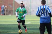 Daniel Stana (foto, la minge) a marcat golul egalizator al vișiniilor, în amicalul dintre CFR și Sănătatea Cluj (scor 1-1) / Foto: Dan Bodea