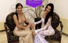 Loredana Salanța,   câștigătoarea concursului Top Model of The World,   creează alături de sora sa,   Cosmina,   ținute pentru covorul roșu