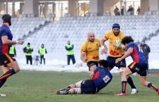 Echipa națională de rugby a României a bifat o nouă victorie în fața Spaniei, scor 29/8, în Cupa Europeană a Națiunilor / Foto: Dan Bodea