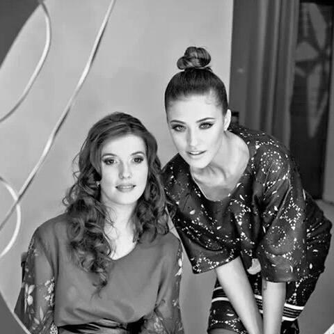 Magda și Antonia,   în timpul evenimentului Atipic Beauty