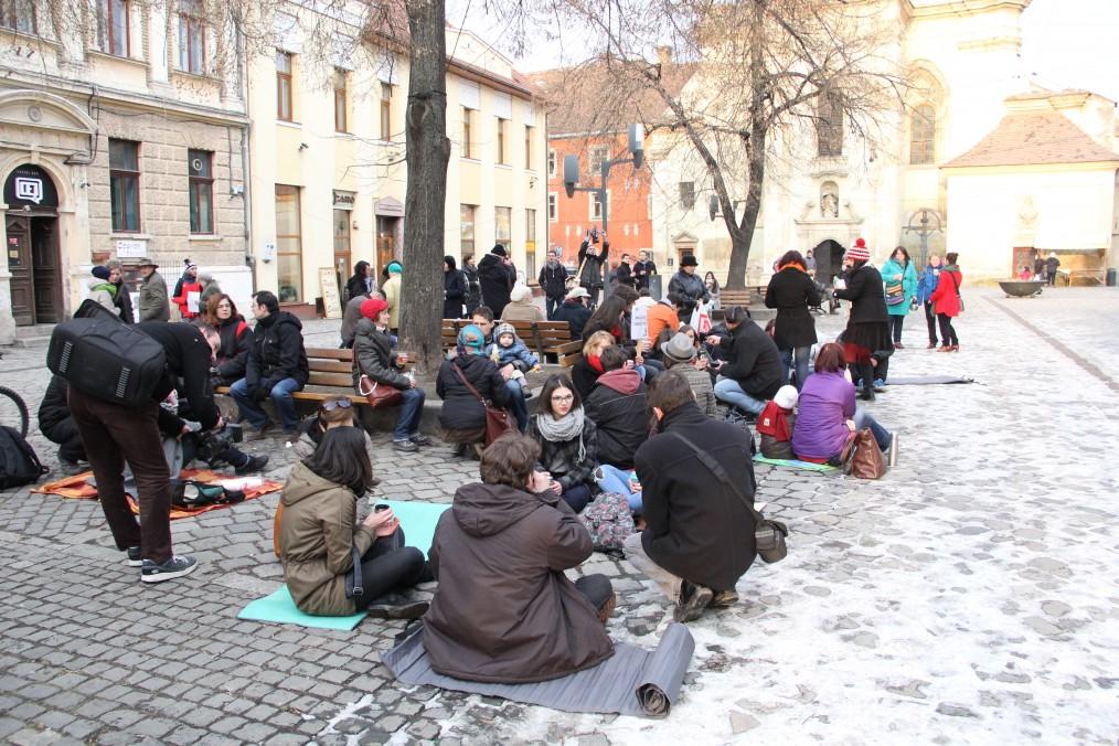 Picnic clujean în Piața Muzeului / Foto: Dan Bodea