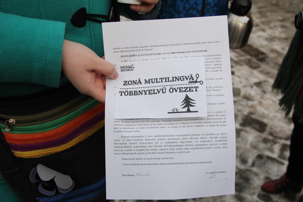 1.000 de astfel de cereri vor ajunge în cel mai scurt timp la Primăria Cluj-Napoca / Foto: Dan Bodea