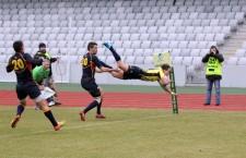 """Reprezentativele de rugby ale României și Spaniei s-au întâlnit și anul trecut la Cluj, în drumul """"Stejarilor"""" sore Cupa Mondială din Anglia / Foto: Dan Bodea"""