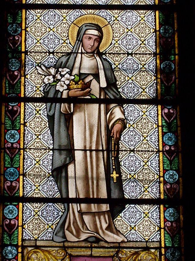 Vitraliul cu Sfânta Clara din Catedrala Schimbarea la Față
