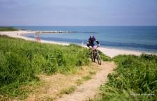 Traseul are o lungimă de 4,  1 km,   jumătate fiind pe plajă și cealaltă jumătate pe coasta de acces pe faleză.