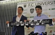 Adrian Falub (foto dreapta) a fost prezentat,   oficial,   ca noul antrenor principal al Universității Cluj