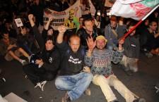 Mihnea Blidariu participă la un Protest împotriva exploatării miniere de la Roșia Montană/ Foto: Dan Bodea.