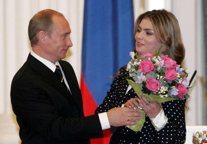 Vladimir Putin şi presupusa lui amantă/soţie,   Alina Kabayeva
