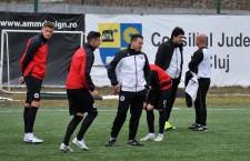 Fotbaliștii de la Universitatea Cluj s-au antrenat,   luni după amiaza,   sub comanda noului staff,   condus de Adrian Falub / Foto: Dan Bodea
