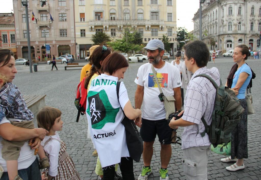 Clujenii alături de Alexandru Popescu / Foto: Dan Bodea