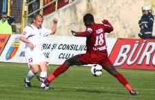 """Ultima dispută dintre """"U"""" şi CFR,   în Cupa României,   s-a disputat în 2008 şi s-a terminat la egalitate scor 3-3,   feroviarii calificându-se în optimi după executarea loviturilor de departajare / Foto: Dan Bodea"""