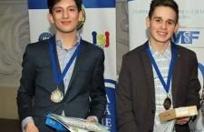 """Olimpicii Valentin Danci și George Maier  de la Liceul Teoretic """"Avram Iancu"""""""