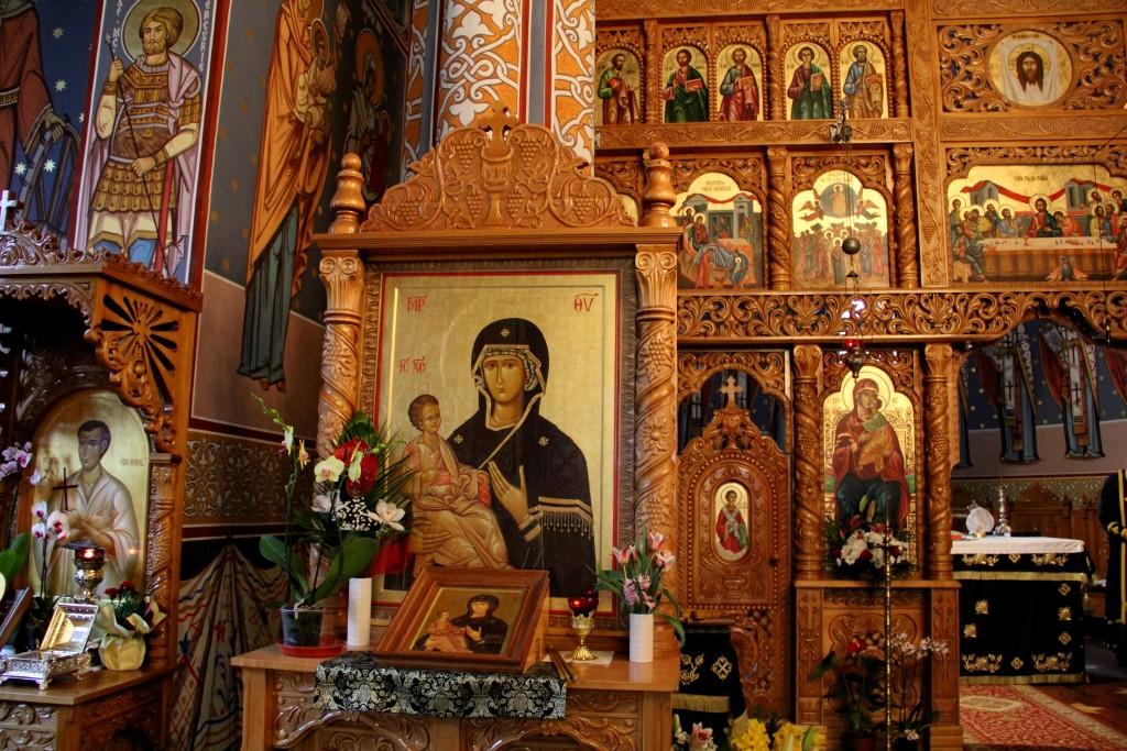 Icoana Maicii Domnului-Povățuitoarea de la Florești făcătoare de minuni (pictată în Sfântul Munte Athos) / Foto: Dan Bodea