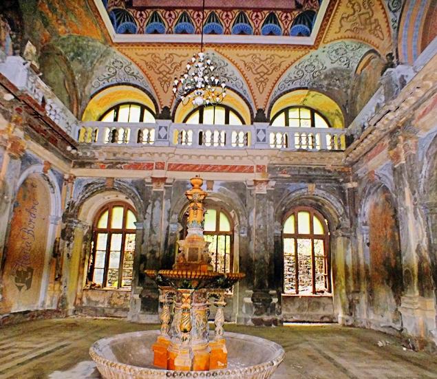 Salonul de cură balneară din interiorul Băilor Imperiale în 1908,   o bijuterie arhitecturală.