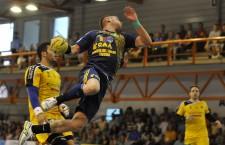 Medaliați cu bronz în ediția trecută de campiona, handbaliștii de la Potaissa Turda s-au impus, miercuri, cu 26-23 în fața celor de la HC Odorhei, în primul meci din play-off-ul Ligii Naționale / Foto: Dan Bodea