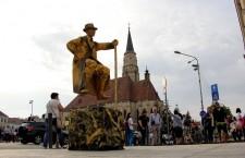 Spre deliciul publicului statuile vivante nu lipsesc nici anul acesta din cadrul Zilelor Clujului / Foto: Dan Bodea