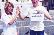 """""""Hi 5 for Healthy life"""",   provocarea inedită care promovează campania """"Mâini curate pentru sănătate"""""""
