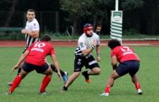 După o repriză perfectă rugby-știi clujeni au evoluat modest în cea de a doua a meciului cu Steaua și au cedat disputa cu scorul de 12-36, într-un meci din SuperLiga Națională / Foto: Dan Bodea