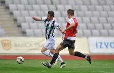Vlad Morar (foto,   cu numărul 7) a marcat în minutul 87 al meciului cu Ceahlăul,   ultimul gol al Universităţii Cluj în actuala ediţie de Liga 1