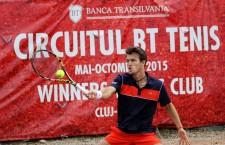 Francezul Maxine Chazal a triumfat pentru prima oară la turneul ITF Futures BT Open de la Cluj-Napoca / Foto: Dan Bodea