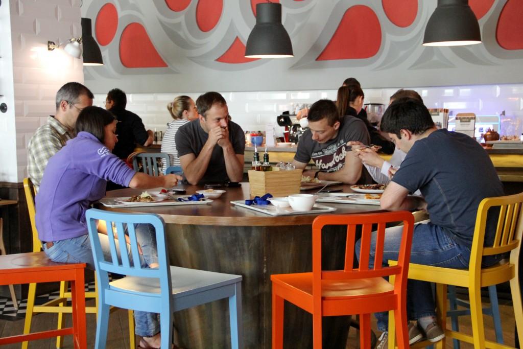 Restaurantul Hugp fin cadrul The Office / Foto: Dan Bodea