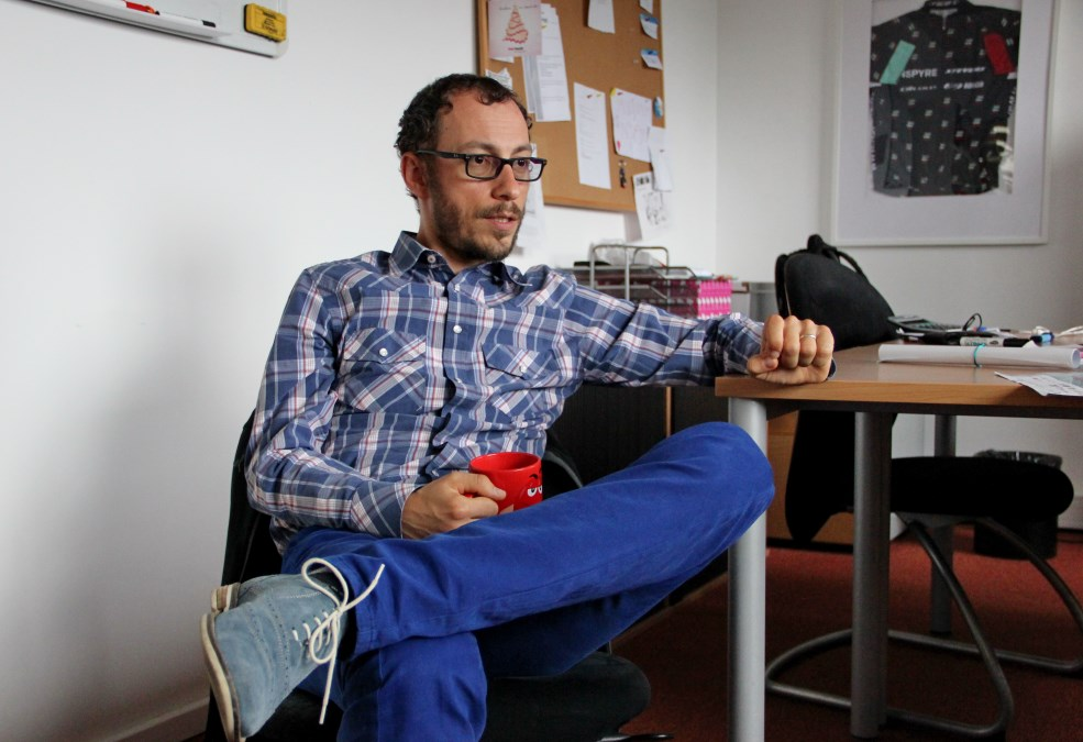 Dan Koblicska, în biroul său de la compania Nspyre/Foto: Dan Bodea