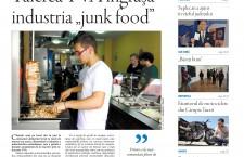 """Nu ratați noul număr Transilvania Reporter: Tăierea TVA îngrașă industria """"junk food"""""""