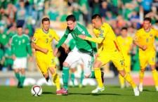 România şi Irlanda de Nord au terminat la egalitate (0-0) meciul disputat,   sâmbătă,   la Belfast,   în preliminariile Campionatului European din 2016 / sursa foto: belfasttelegraph.co.uk