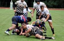 Cristian Murgoci (foto,   la balon) a înscris două eseuri în egalul dintre Universitatea Cluj şi CSM Ştiinţa Baia Mare,   în Cupa Regelui la rugby / Foto: Dan Bodea