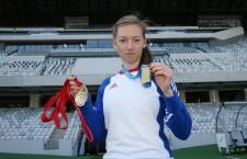 Bianca Răzor a cucerit pentru al treilea an consecutiv titlul balcanic în proba de 400 metri plat / Foto: Dan Bodea