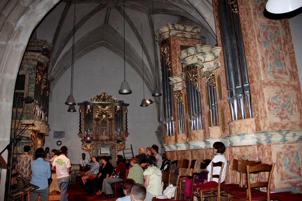 Orga cu trei corpuri din Biserica Sf. Mihail/Foto: Dan Bodea