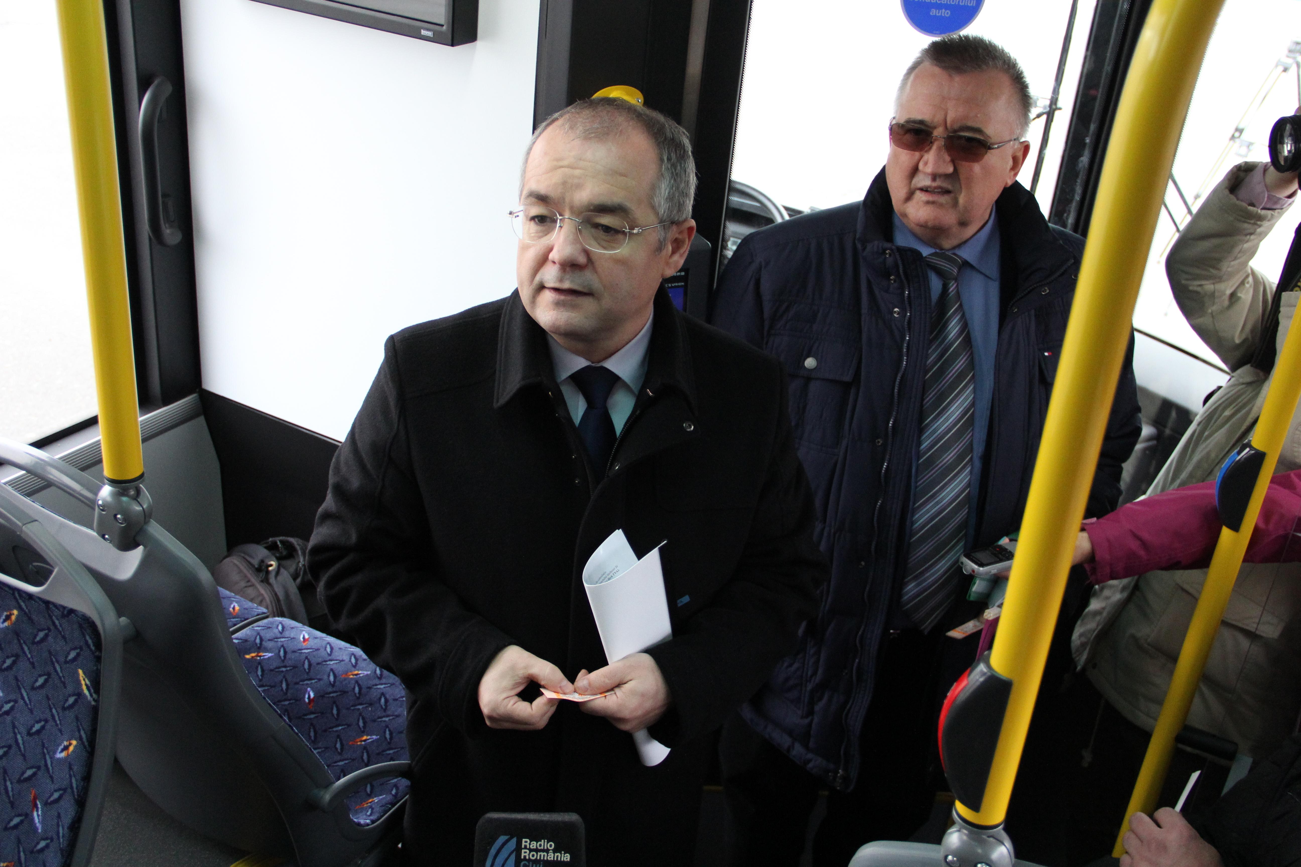 Primarul Emil Boc și directorul CTP Cluj,   Liviu Neag / Foto: Dan Bodea