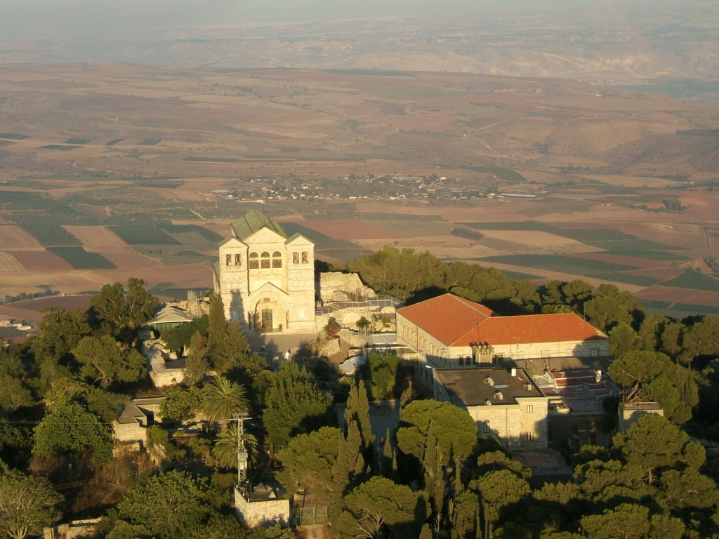 """Biserica franciscană """"Schimbarea la față"""" pe muntele Tabor din Israel"""