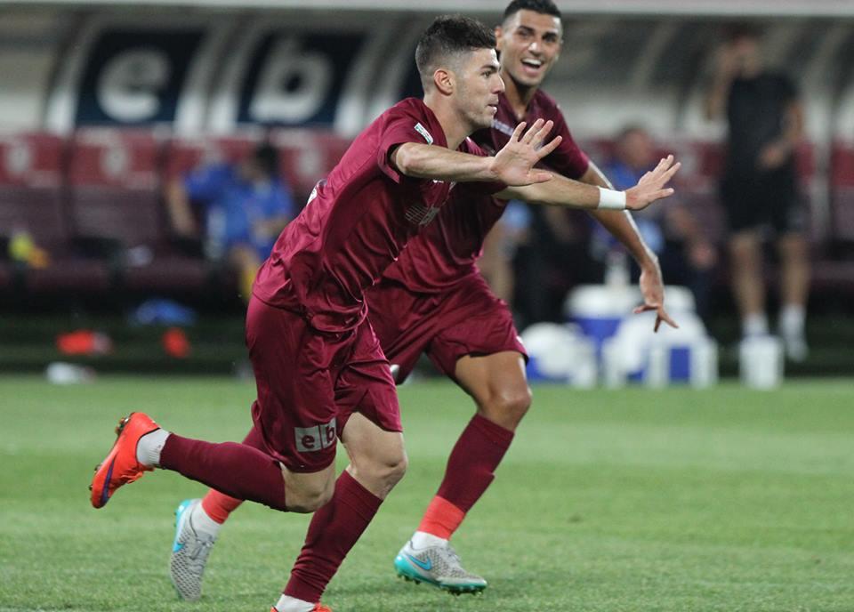 Cristian Lopes a marcat golul calificării echipei CFR în sferturile Cupei Ligii / Foto: Dan Bodea