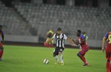Andreas Calcan (foto, cu numărul 10) a făcut un meci mare în meciul de Cupa României, împotriva Stelei, club care deţine 30% din drepturile federative ale sale